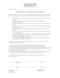 Credit Consent Form Counseling Informed Consent Form Template Counseling Adaptations
