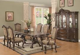 Coaster Andrea  Piece Double Pedestal Dining Table And Cushion - Traditional dining room set