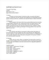 Writing A Proposal Example 9 Loan Proposal Examples Pdf Examples