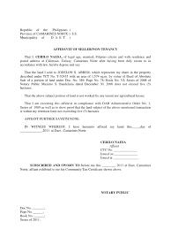 Certificate Of Residency Sample