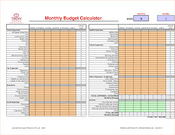 Monthly Budget Calculator 24 budget calculator template Procedure Template Sample 1