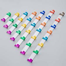 Row Of Hooks Coat Rack 100 hooks Candy color coat hanger space aluminum bathroom accessories 97