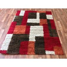 brown and white rug red modern blocks gy area rug red orange in red orange rug ideas