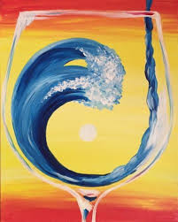 Splash of Fun Rose 'n' Vine Paint Party Canvas Painting Idea No Copyright  infringement intended.