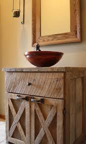 Wicker Basket Cabinet Rustic Unstained Oak Wood Vanty Table Double Hung Door Cabinet