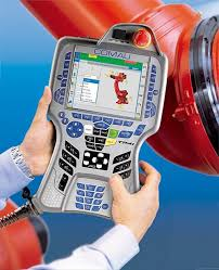 all the traditional data communication robot programming activities can be carried out without the restrictions caused by the cable connected to the control