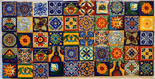 mexican tile table tiles clay handmade folk art mosaic mexican tile table numbers