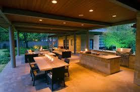 gallery outdoor kitchen lighting: outdoor kitchen concrete night lighting bonick landscaping dallas tx