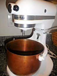 4 of 6 kitchenaid copper liner mixing bowl 4 5 quart k5ss stand mixer