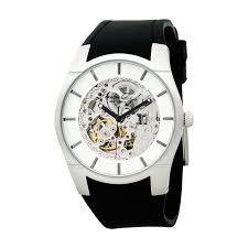 kenneth cole new york men automatic rubber strap watch