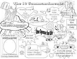 Ten Commandments For Kids Coloring Pages Murderthestout