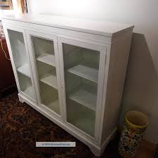 sectional white glass door bookcase for kids playroom
