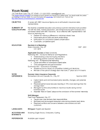 Fast Food Resume Objective Sample With No Experience For Chain