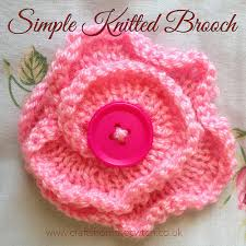 Knitted Flower Pattern Fascinating Inspired By Nature Simple Knitted Flower Brooch Crafts From The Cwtch