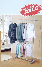 double pole cloth drying rack hanger stand stainless steel large new children clothes silver coach purse