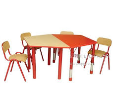 new style of wooden kid study table designs children student desk with chair for school