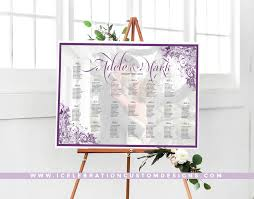 Picture Frame Seating Chart Swirled Frame Wedding Seating Chart