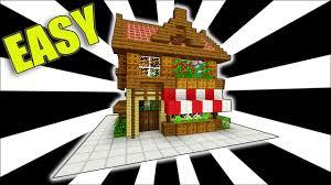 Minecraft Shop Designs Minecraft How To Make A Shop Easy Starter House Tutorial