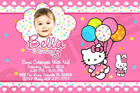 invitation card hello kitty kitty party invitation cards maker free printable hello kitty
