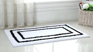 black and white bathroom rugs 2 piece regency manor microfiber bath rug set black and white black and white bathroom rugs