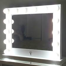 grand hollywood lighted vanity mirror w