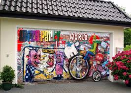 3D Lively Graffiti Garage Door Murals Wall Print Decal Wall Deco AJ ...