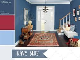 Navy Blue Color Scheme Living Room Photo Page Hgtv