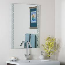 Frameless Bathroom Mirror Decor Wonderland Frameless Butterfly Wall Mirror Reviews Wayfair