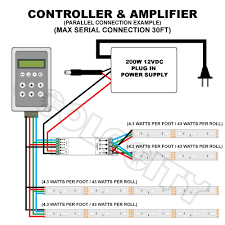 led strip light 12v dc wiring diagram wiring diagram online scart rgb wiring diagram ul listed rgb led ribbon strips waterproof, 180 leds 118\\\
