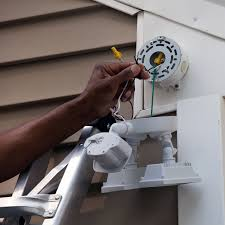 install motion lights match wiring and attach wire connectors and electrical tape