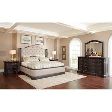 traditional dark oak furniture. Dark Oak \u0026 Linen Traditional 6 Piece King Bedroom Set - Ravena | RC Willey Furniture Store D