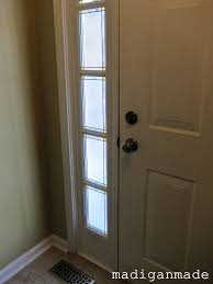 adding privacy to sidelights faux stained glass diy