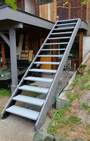 Outdoor Stair Stringers by Fast-Stairs.com
