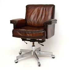 Desk Chair ~ Leather Desk Chair Brown Office Chairs Without Wheels ...