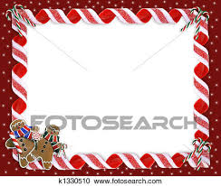 christmas candy border. Exellent Candy Stock Illustration  Christmas Border Cookies And Candy  Fotosearch  Search Clipart Posters In
