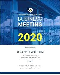Simple Business Meeting Invitation Template Conference Save
