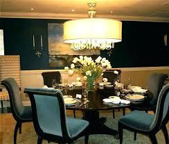 dining room drum chandelier chandeliers black shade