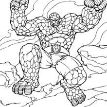 Small Picture THE THING coloring pages 20 free superheroes coloring sheets