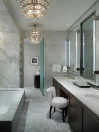 captivating contemporary bathroom chandeliers 8 with marble pattern floor and green door ideas