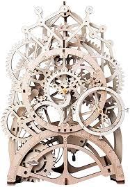 Amazon.com: ROKR Pendulum Clock Mechanical Wooden Gear Puzzle Kit: Toys &  Games