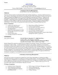 Incident Management Resume Example Resume Emergency Management Resume 18