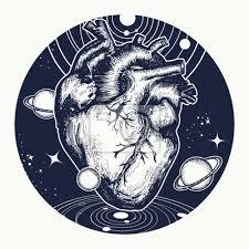 Fototapeta Srdce Ve Vesmíru Tetování Symbol Lásky Filozofie Psychologie