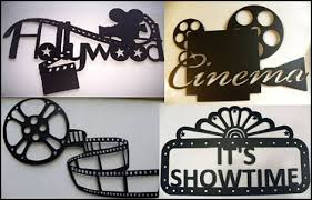 decorate the home cinema walls with fun themed metal wall art