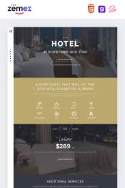 Hotel Travel Stylish Html Landing Page Template