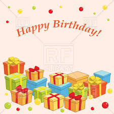 Free Birthday Posters Happy Birthday Poster With Gifts And Presents Vector Illustration Of