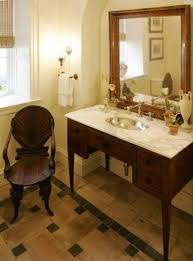powder room furniture. Traditional Powder Room - Bathroom Sink Vanity Made From Antique Furniture With Marble Counter Trad W
