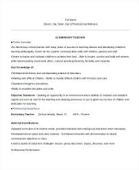 Sample Elementary Teacher Resumes Resume Experienced School – Creer.pro