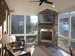 screened porch fireplace outdoor integrated into your screen ch covered patio sun rooms and ches cover screened porch fireplace cost small outdoor