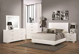 Coaster 40 Felicity Glossy White Bedroom Set Dallas Designer Beauteous Glossy White Bedroom Furniture