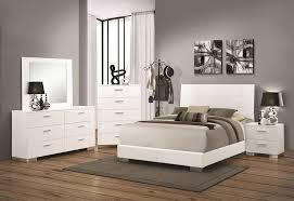 felicity glossy white bedroom set